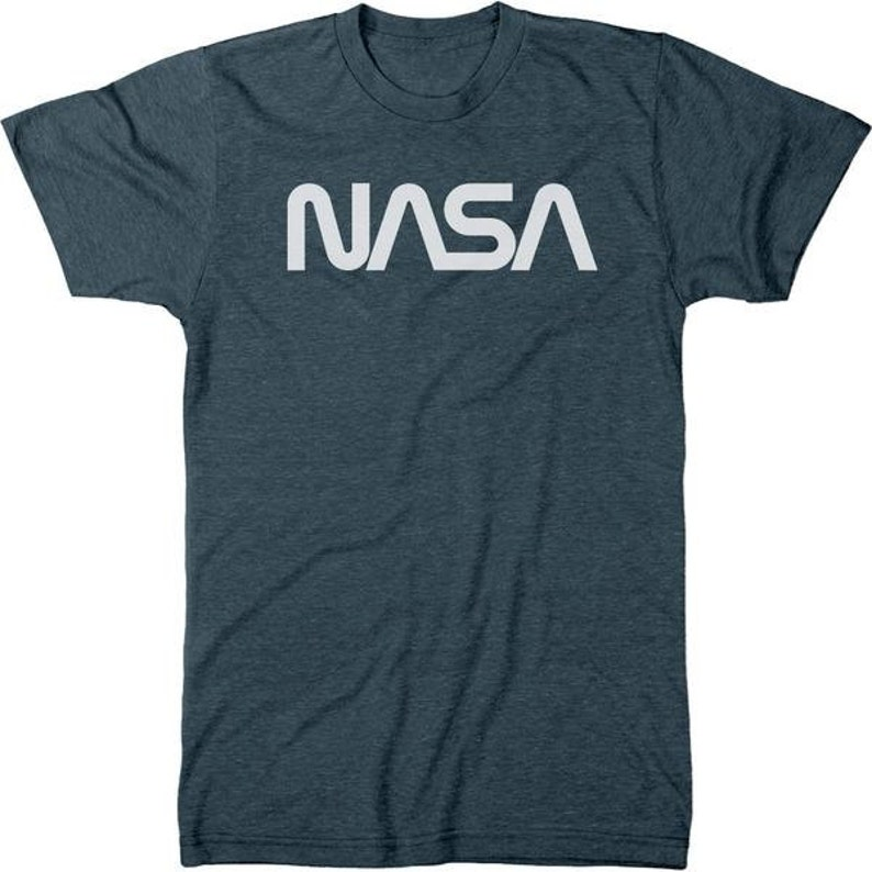 8a75d4019 NASA 70s Worm White Logo Men's Tri-blend T-Shirt | Etsy