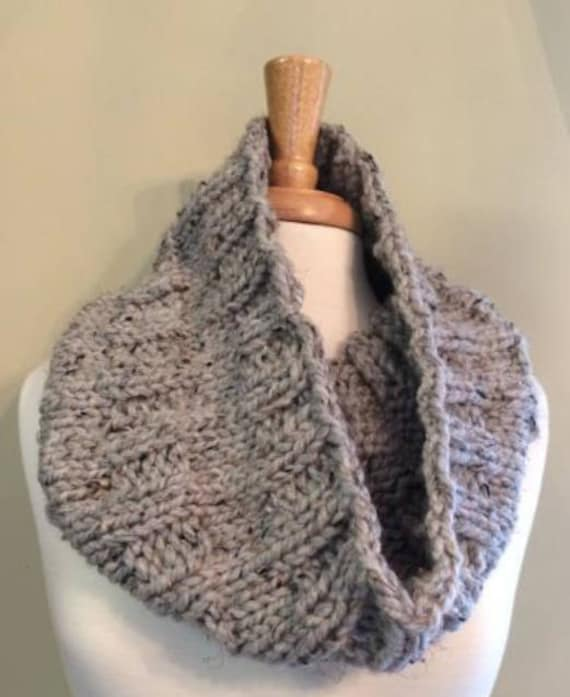 Thick And Quick Cowl Pattern Knitting Pattern Cowl Pattern Etsy