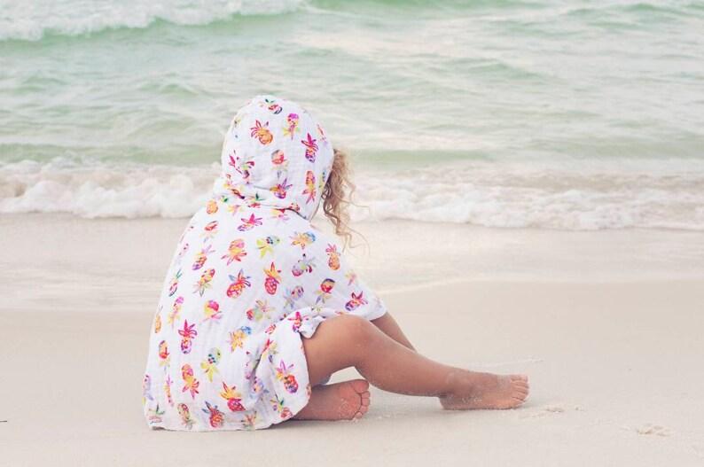 pool towel Summer Poncho Hooded Towel Beach cover up pool poncho Beach towel carseat poncho Summer Car Seat Poncho Summer Cover Up