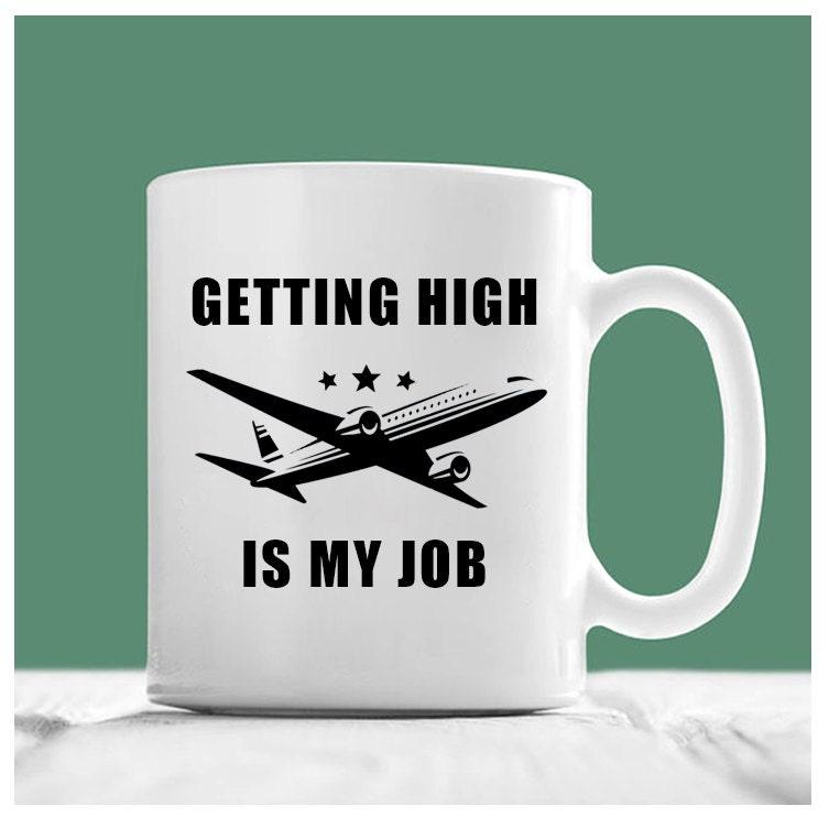 pilot becher immer hoch ist mein job pilot kaffeebecher etsy. Black Bedroom Furniture Sets. Home Design Ideas
