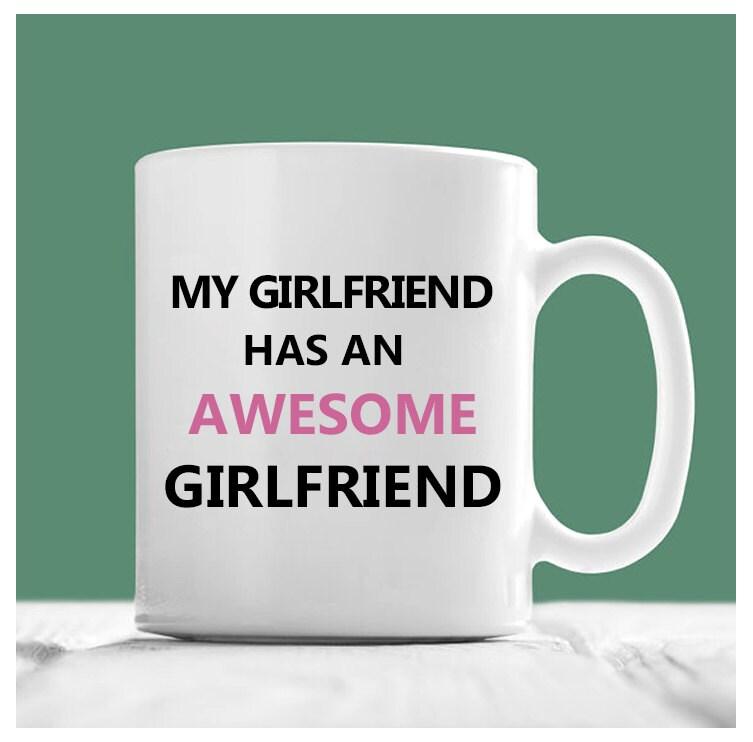 mug lesbienne ma copine a une amie g nial cadeaux pour les. Black Bedroom Furniture Sets. Home Design Ideas