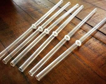 "9"" BPA - Free Clear Acrylic Straws"