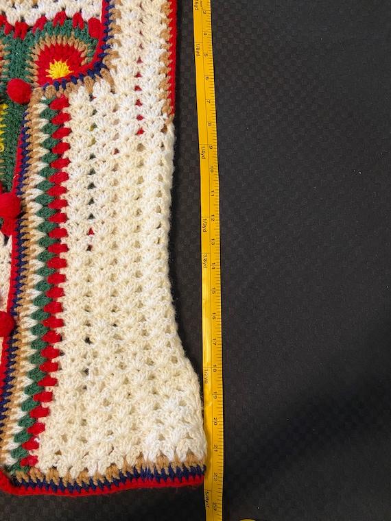 Vintage Crochet Vest/Retro Granny Square Pattern/… - image 4