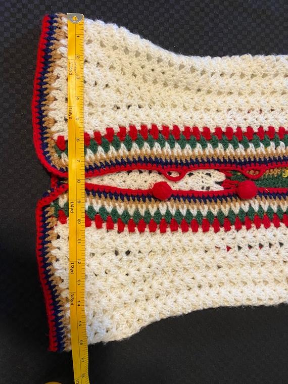 Vintage Crochet Vest/Retro Granny Square Pattern/… - image 5