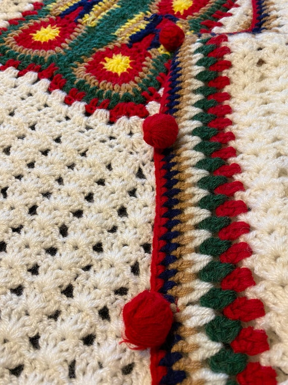 Vintage Crochet Vest/Retro Granny Square Pattern/… - image 6