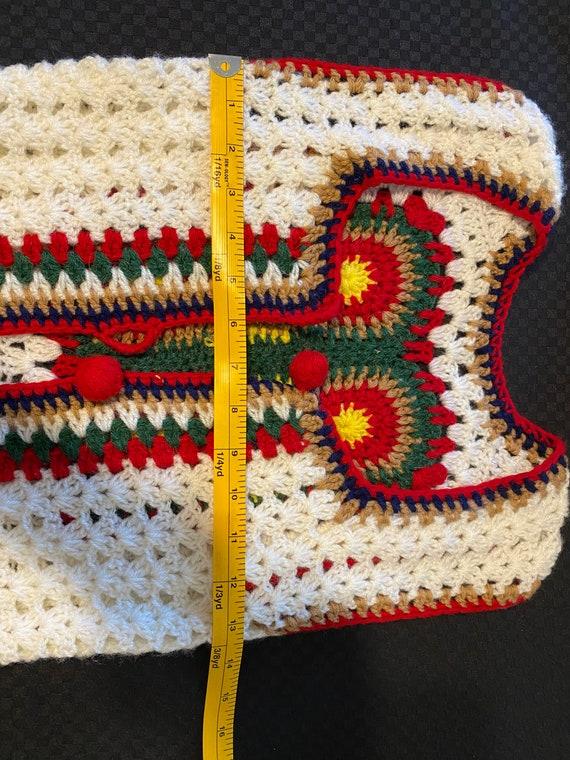 Vintage Crochet Vest/Retro Granny Square Pattern/… - image 3
