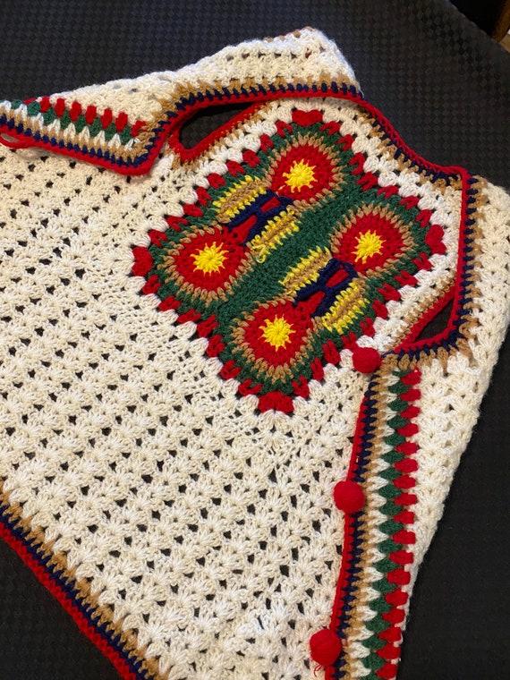 Vintage Crochet Vest/Retro Granny Square Pattern/… - image 7