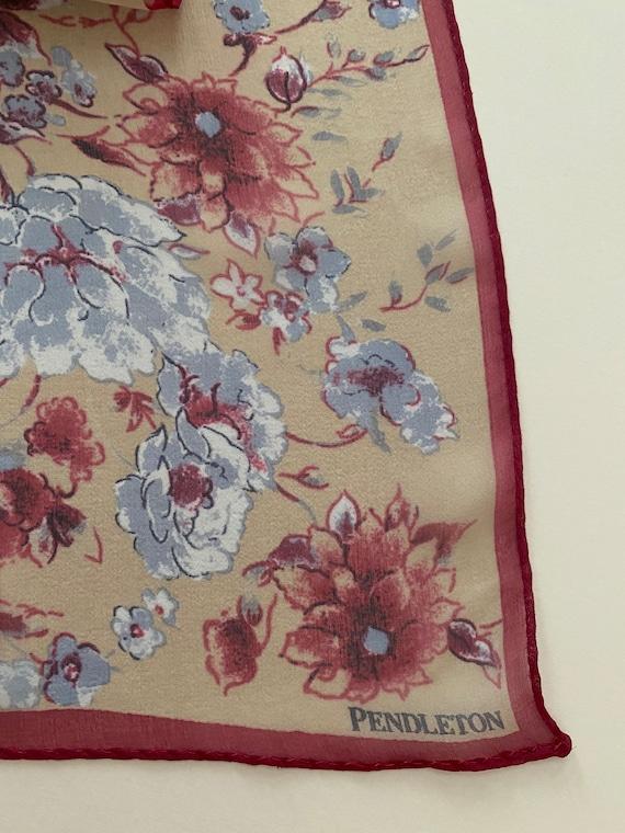Vintage Pendleton Chiffon Silk Scarf