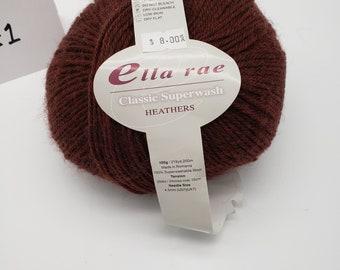 Clearance Amethyst Purple Ella Rae DK Merino Superwash Wool Yarn 260 yards Color 119