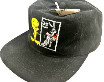 ea33008312dc vintage warner bros looney tunes bugs bunny x tweety snapback cartoon hat  cap made in usa
