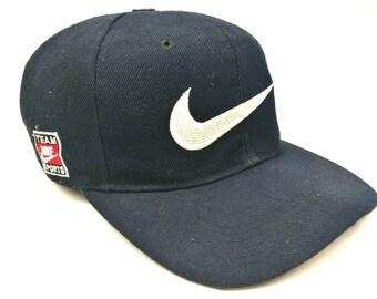 nike vintage big swoosh logo nike sport team side logo snapback cap 2474eec16bc7