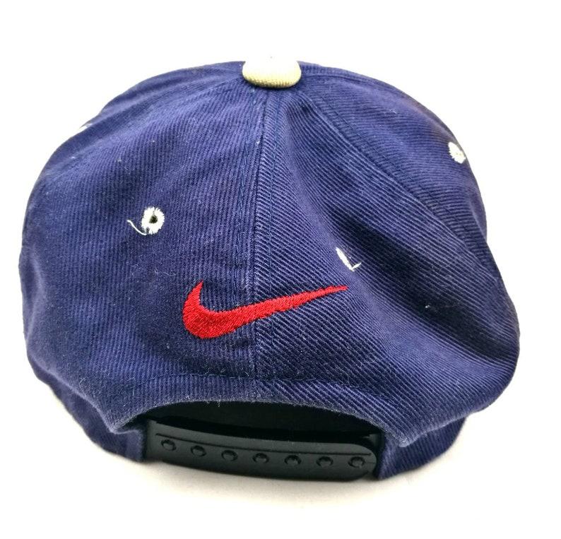 6c4ff910d7e93 Vintage nike 90s spell out big logo snapback cap dad hat