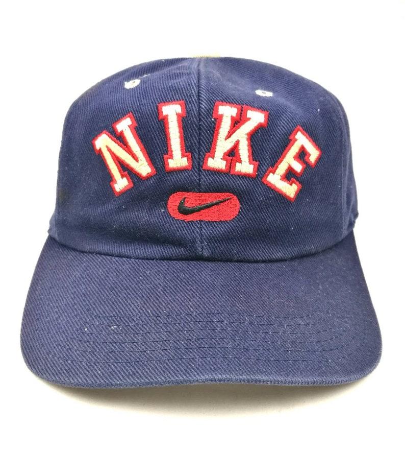 177bf68de vintage nike 90s spell out big logo snapback cap dad hat