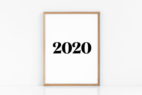 Printable Signs For Office Closed For Christmas 2020 2020 typography Wall Art Prints Printable Art Christmas   Etsy