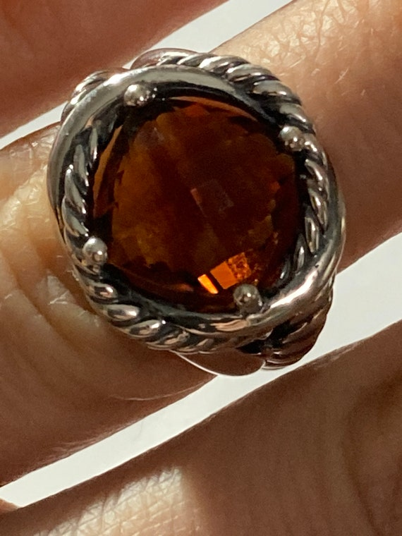 Pre owned David Yurman crossover ring  5mm size 6