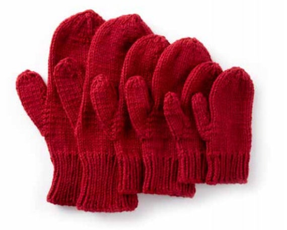 Pdf Mittens Family Knitting Pattern