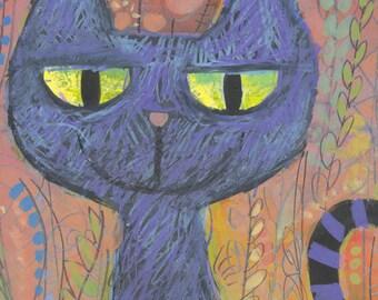 The Black Cat - Digital Print