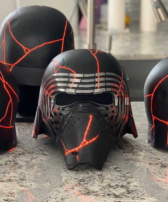 Kylo Ren Rise Of Skywalker Finished Helmet Updated Face Plates Etsy