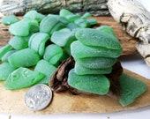 Bulk Lot 50-150 thick sea glass green Crafts jewelry real beach glass set Mosaic beach glass Supplies Sea glass art