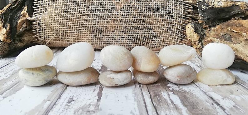 White quartz lot 13  Beach round sea rocks White tumble stone Wishing stones