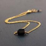 Raw Black Tourmaline choker necklace