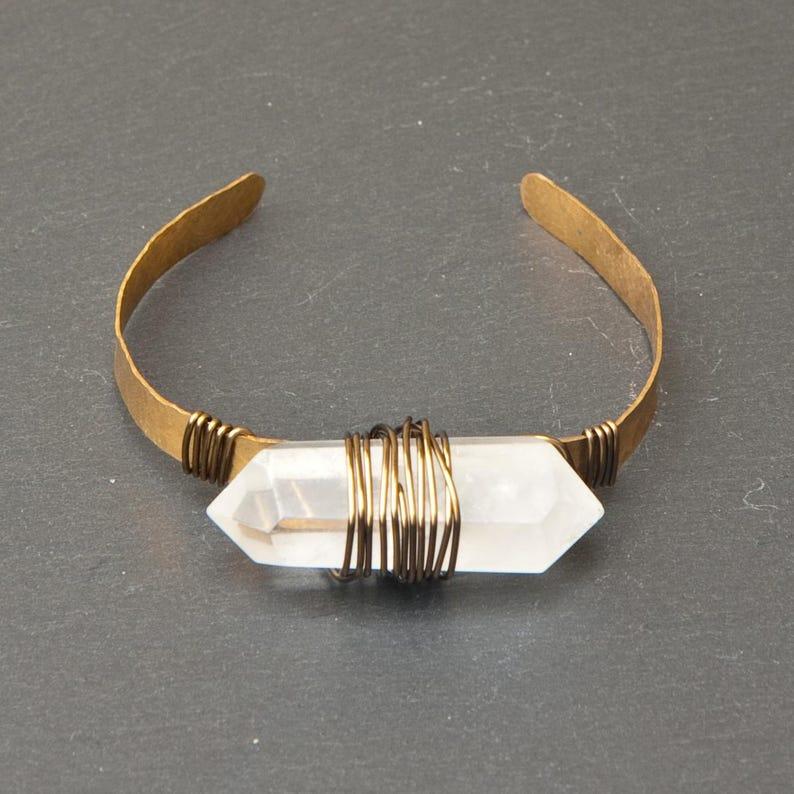 Quartz crystal cuff bracelet  master healer image 0