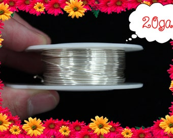 20ga 40ft Silver Wrap Wire, Silver Wrapping wire, Silver Beading wire, Silver Jewelry Wire,