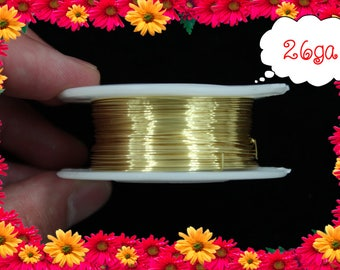 26ga 150ft Gold Wrap Wire, Gold Wrapping wire, gold Beading wire, gold Jewelry Wire,