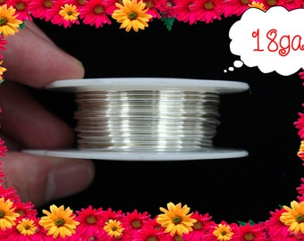 18ga 25ft Silver Wrap Wire, Silver Wrapping wire, Silver Beading wire, Silver Jewelry Wire,