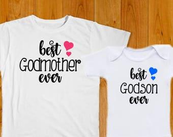 4de635b38 Godmother Shirt Godson Shirt - Godmother Gift - Godson Gift - Baby Shower  Gift - Baptism Gift - Christening Gift - Baby Boy Gift - Godson