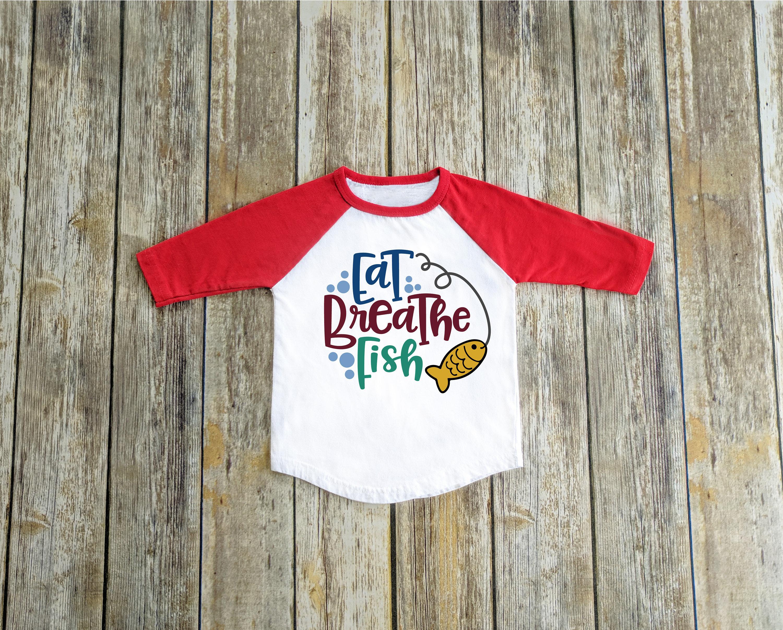 Eat Breathe Fish Fishing Shirt Fishing Gift Fish Fan Gift Etsy
