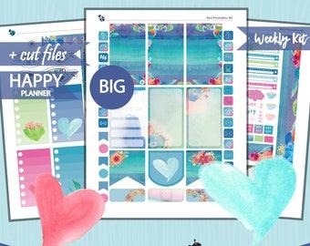 BIG Happy Planner Weekly Kit, Watercolor weekly kit, Big Happy Planner, Printable weekly stickers, Big Planner Stikcers, Cutfiles HPB-12