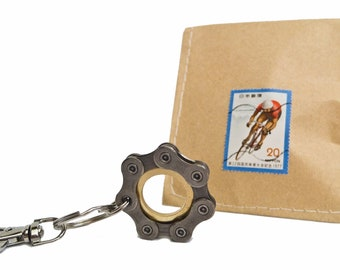 Key chain Cycling key fob I Bicycle I Handmade Gift for Cyclists Cycler