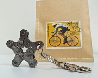 Keychain Cycling Star Cycle Bicycle pendant I Key Ring / Cycling Gift / Bike Fob / Sport Key Heart Bikelove Biker