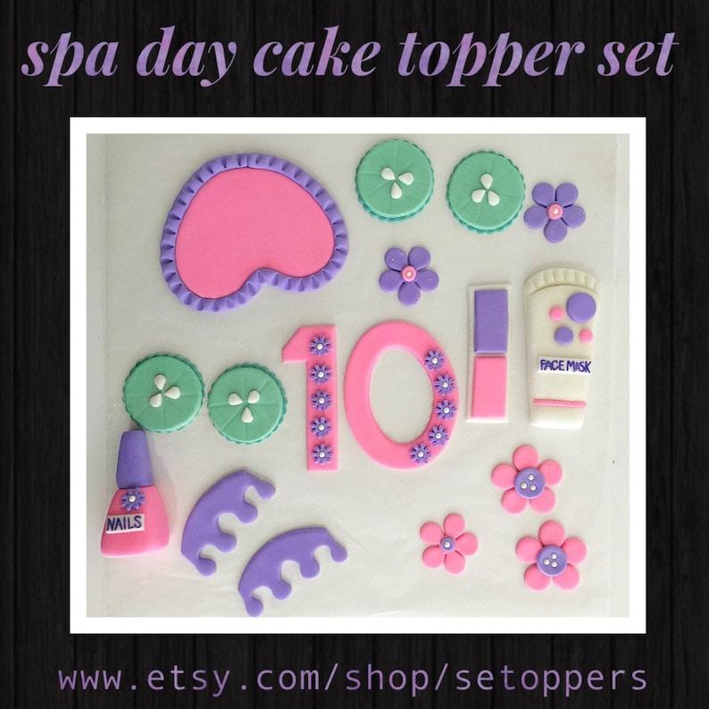 Spa Cake Topper Themed Fondant Birthday