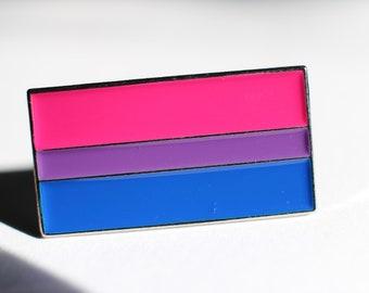 "Bisexual Pride Rainbow Flag Lapel Pin  1"""
