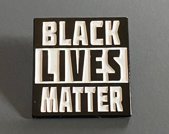 "Black Lives Matter Enamel Lapel Pin 1"" Custom"