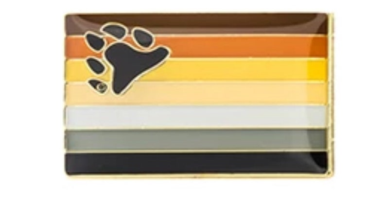 Bear Pride Flag Lapel Pin image 0