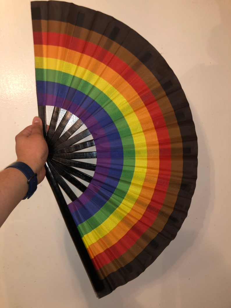 Our CUSTOM More Color More Pride Fan very limited quantities image 0