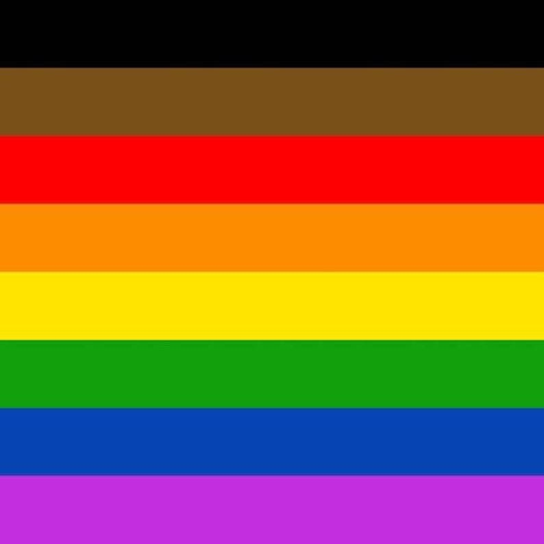 8 Stripe Philly Rainbow Pride High Gloss Vinyl Sticker set of image 0