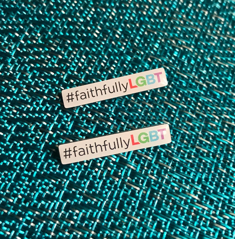 FaithfullyLGBT Lapel Pin 1. image 0