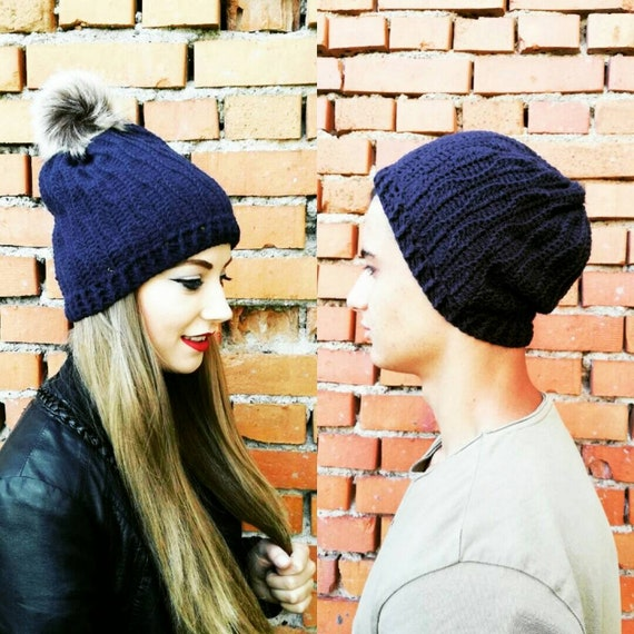 Matching winter hats His and hers hat Mom and dad hats Husband  21427c155e8