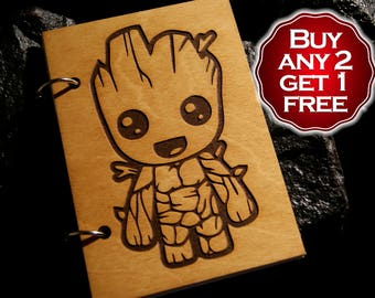 Wooden Groot Etsy