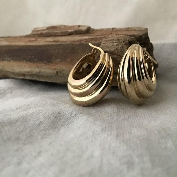 14 K Gold Hoop Earrings