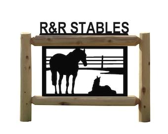Clingermans Equestrian Horse Outdoor Sign
