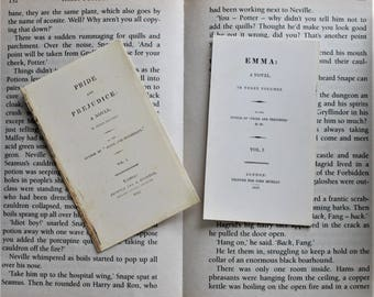 2 Jane Austen bookmarks: Emma & Pride and Prejudice, original title page
