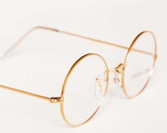 ab52cfa2122 47mm True Round HILTON CLASSIC by Savile Row Round 14kt Rolled Gold Vintage  Frames