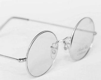 8a93ad0ccf0b VINTAGE SAVILE ROW True Round Glasses in Silver Finish 14k Rolled Gold  Round Spectacles