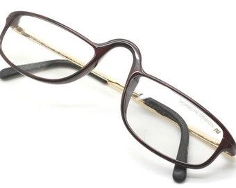 7761be47b67 Carbon Fibre Porsche Design 5663 Half Eye Reading Glasses Leather ends