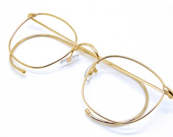424b9033ae59 VINTAGE SAVILE ROW Quadra with Curlsides 14k Gold Filled Frame With 47mm  Rims